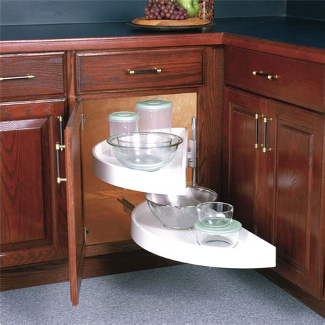 alternative to lazy susan corner cabinet real solutions pivot glide half moon polymer lazy susan