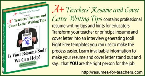 Resume Writing Tips For Teachers 101 Resume And Cover Letter Writing Tips