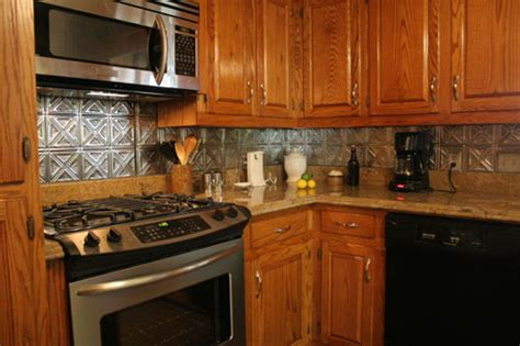 tin kitchen backsplash stainless steel backsplash pictures and design ideas