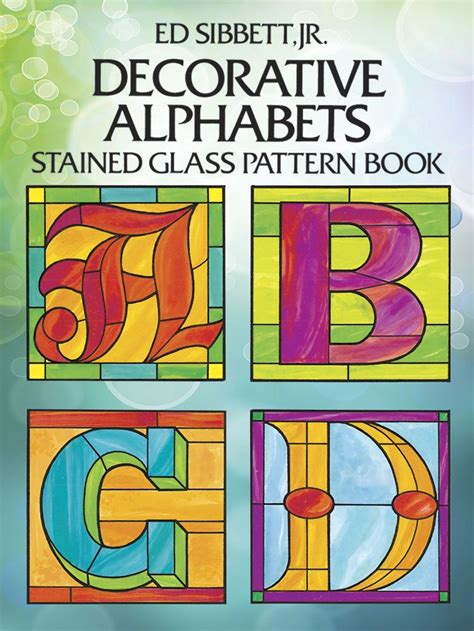 decorative alphabets decorative alphabets stained glass pattern book stained