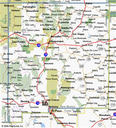 new mexico road map new mexico map and new mexico satellite images