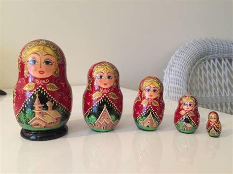 Handmade Russian Nesting Dolls - matryoshka russian babushka doll handmade nesting doll