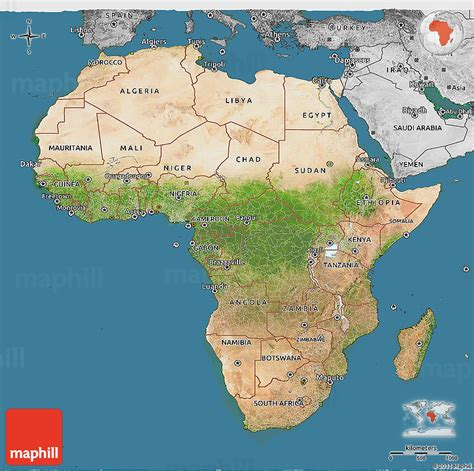 d maps africa satellite 3d map of africa desaturated land only