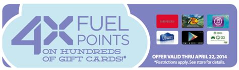 Kroger Fuel Rewards Gift Cards - kroger 4x fuel rewards when you buy gift cards is back kroger krazy