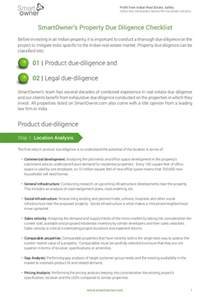 smartowner s 72 point real estate due diligence checklist