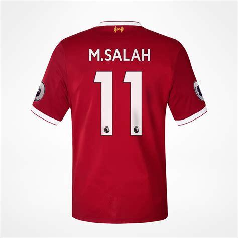 M Salah Liverpool 2017 2018 Home Away Third Style Nameset liverpool hjemmedrakt m salah 11 hos kopshop no