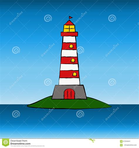 lighthouse home floor plans cartoon lighthouse stock vector image of lighthouse