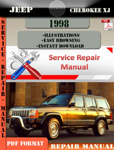 service repair manual free download 1998 jeep cherokee security system jeep cherokee xj 1998 digital service repair manual download manu