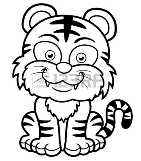 coloring pages of cute baby tigers baby tiger coloring pages ideas for preschool preschool