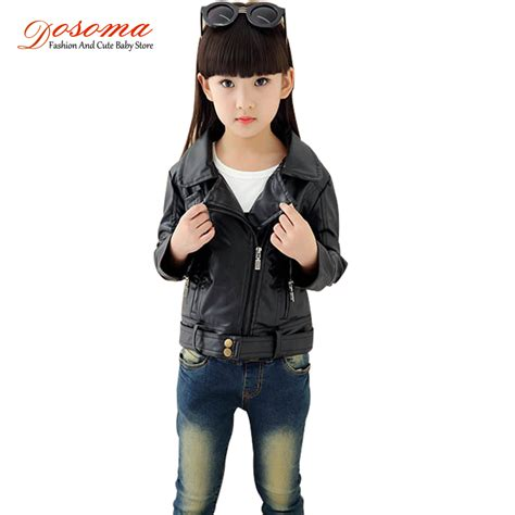 advance age fashions spring 2015black females 2015 girls pu leather motorcycle jackets kids outwear