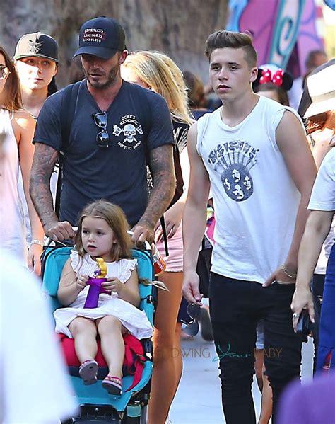 Beckhams Hit Disneyland by David Beckham At Disneyland With And
