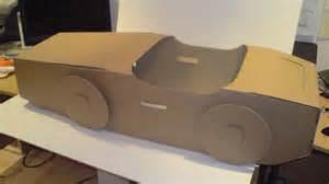 Recycled cardboard car brown