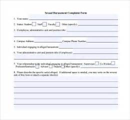 Letter Of Harassment Complaint Template by Harassment Complaint Form 6 Free Sles Exles