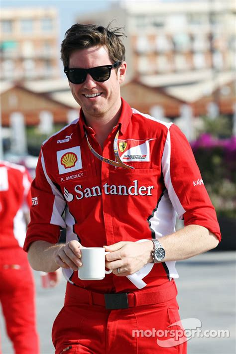 Ferrari F1 Engineer by Rob Smedley Scuderia Ferrari Race Engineer At European Gp