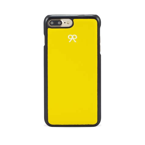iphone 7 8 plus in yellow grained leather plate 99limited
