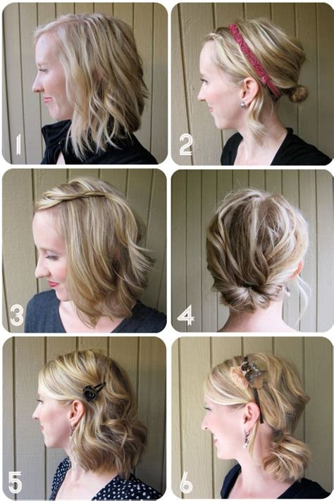 quick updos for medium hair pinterest kratko za svaki dan frizure hr
