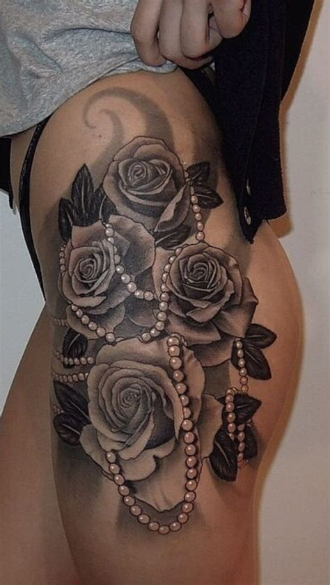 side rose tattoos female this definitely getting this
