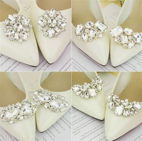 pair women rhinestone shoes buckle full crystal shoe