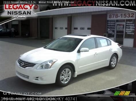 nissan altima white 2010 winter white 2010 nissan altima 2 5 sl charcoal