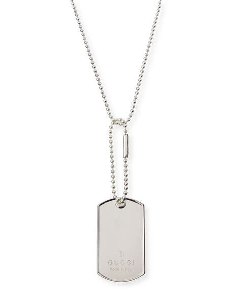 Tag Necklace gucci sterling silver tag necklace neiman