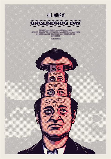 groundhog day vhs illustrations by andrew fairclough