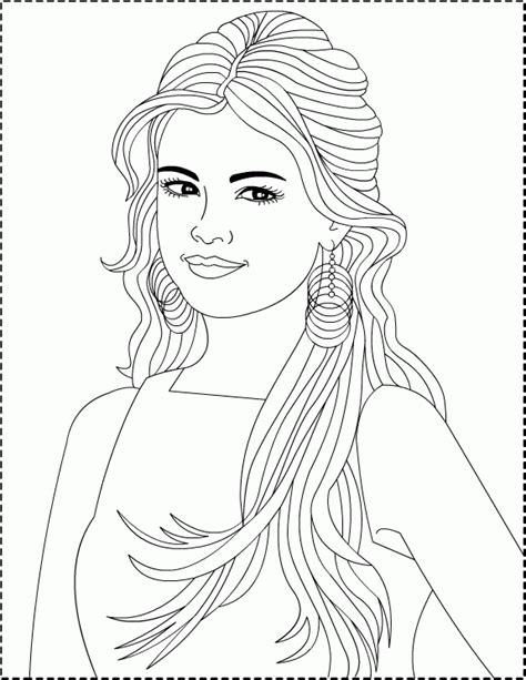 Coloring Pages Of Selena Gomez selena gomez coloring pages coloringpagesabc