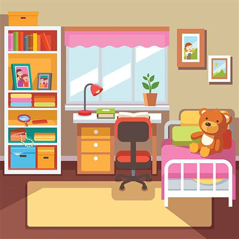 clip art bedroom interior clipart kids bedroom pencil and in color