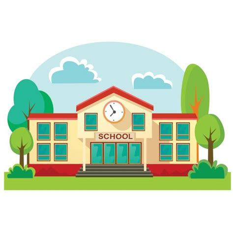 S Drawing Elementary School by Royalty Free Elementary School Building Clip Vector