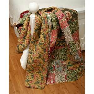 Country Patchwork Quilt Sets - country patchwork floral cotton quilt set