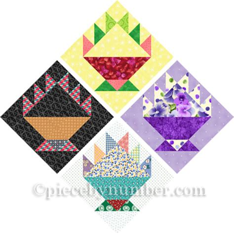 Basket Quilt Blocks by Cake Basket A Free Quilt Block Pattern For Paper Piecing
