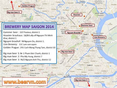 brewery map brewery map hcmc beervn