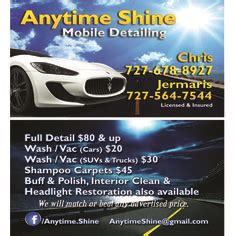 Mobile Detailing Business Cards