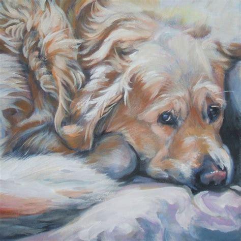 golden retriever prints paintings golden retriever canvas print of la shepard painting 12x12 portrait