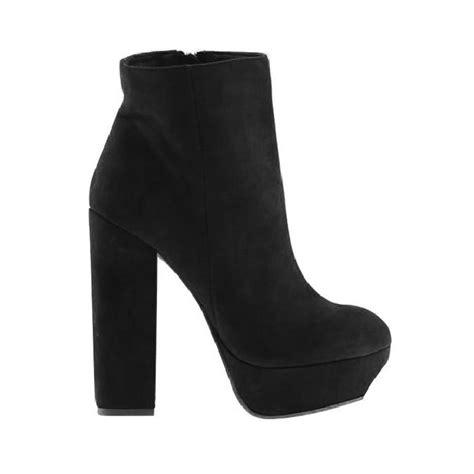 black suede platform high heel boots shein sheinside