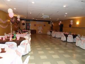 baby shower brown pink and white decorations by