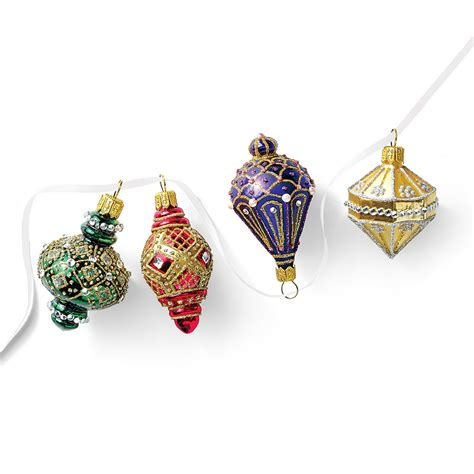 lantern christmas ornaments set of 4 gump s