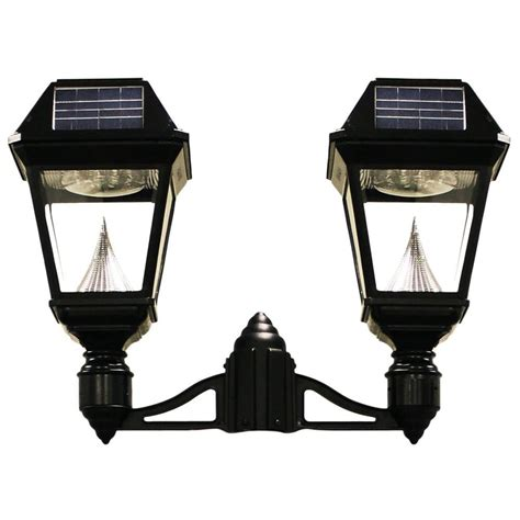 gama sonic solar powered l post imperial series single black integrated led outdoor