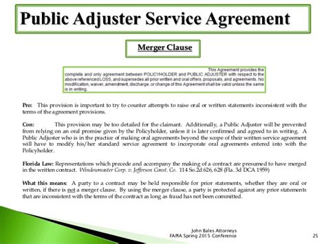 How To Write A Non Performance Clause Adjuster Contract Template