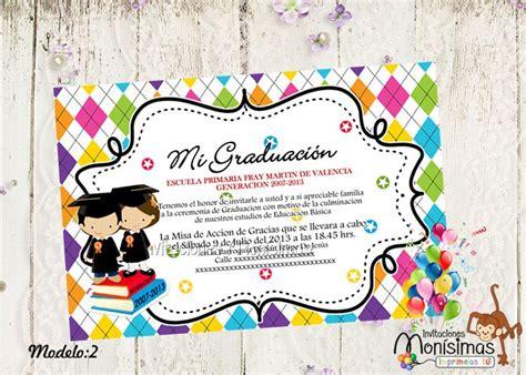 invitaciones graduacion preescolar invitaciones para graduaci 243 n imprimelas tu lugares