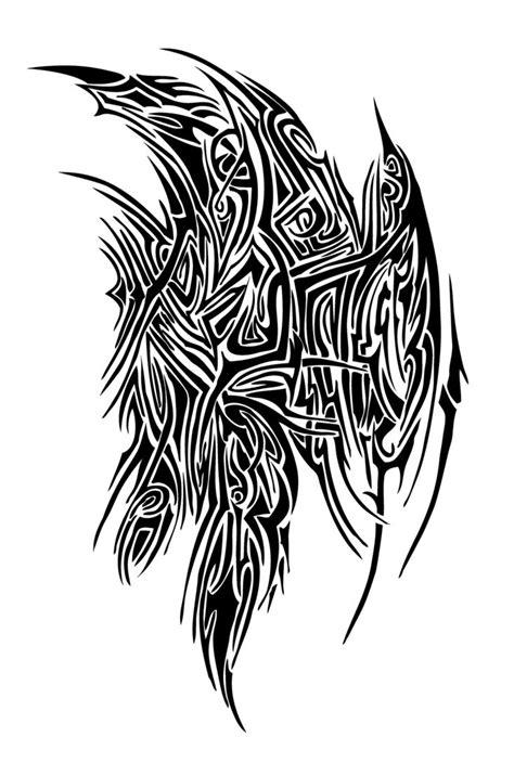 wing tribal tattoos best 25 tribal wings ideas on designer