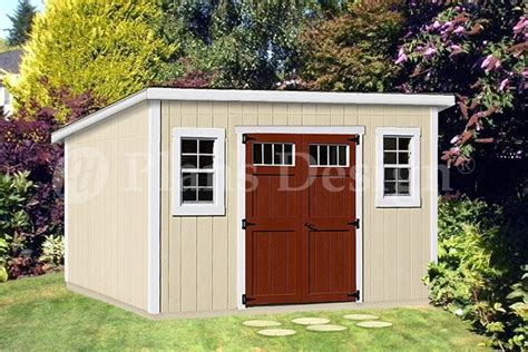 8 X 14 Storage Shed by 8 X 14 Deluxe Modern Storage Shed Building Plans
