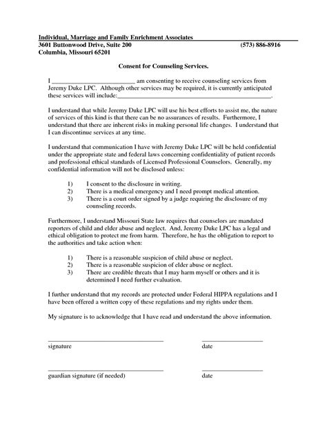 best photos of informed consent exle counseling forms