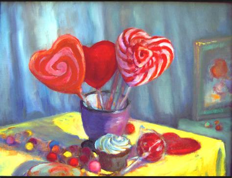 valentines day painting valentines day paintings by artist riki r nelson at