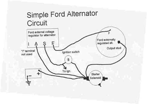 ford tractor alternator wiring diagram images