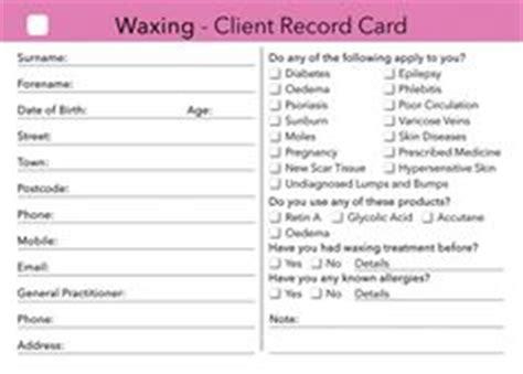 salon client record card template client consultation form cretdecor salons