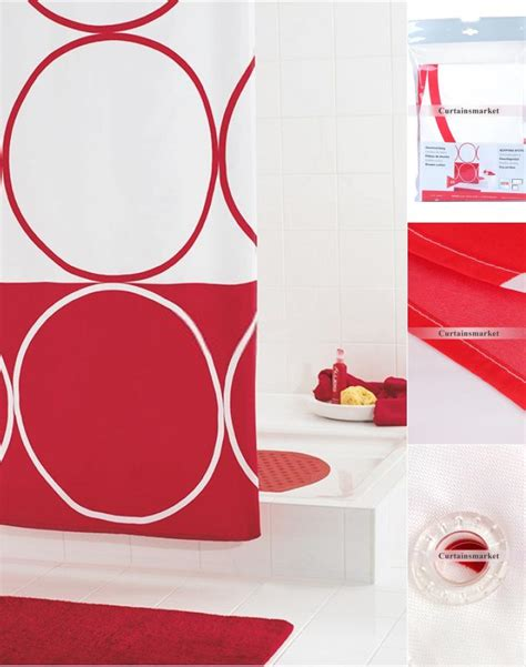 red white shower curtain red and white shower curtain for modern bathroom