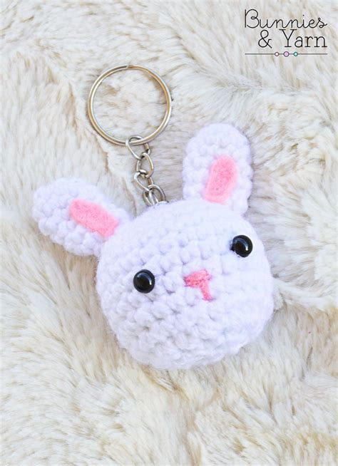 pattern crochet keychain free crochet pattern rabbit keychain bunnies yarn