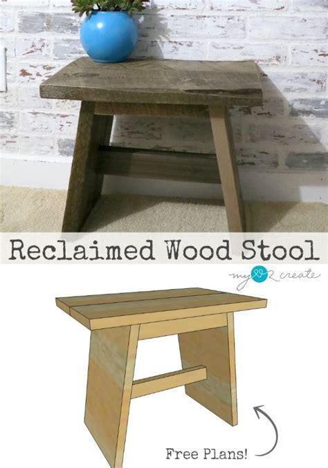 reclaimed wood stool plans wood stool diy stool stool