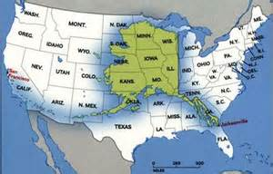 us map alaska to scale 10 interesting alaska facts daily world facts