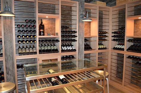 Wine Racks In Kitchen Cabinets modern wine cellar in south miami amp superior split